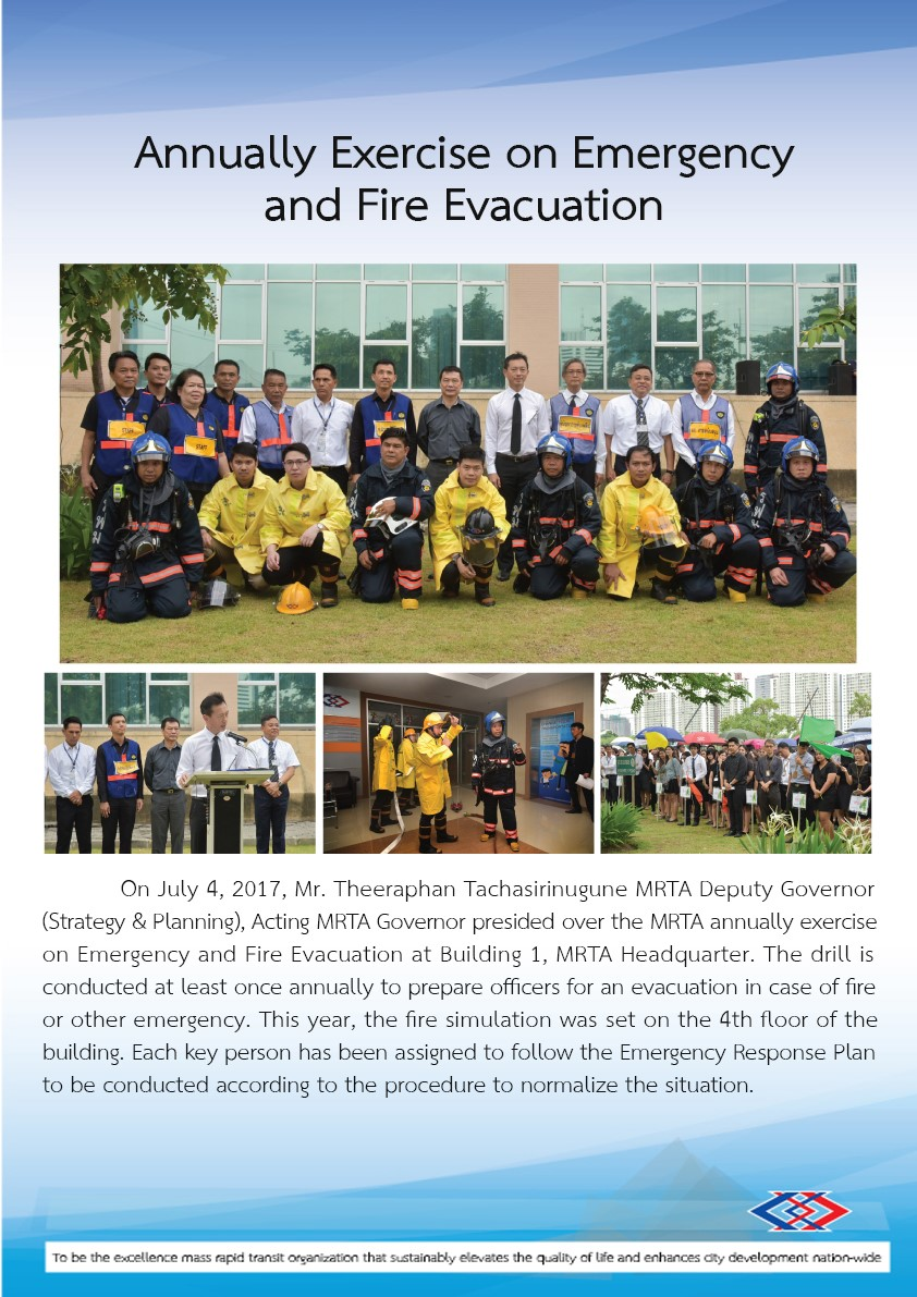 Annually Exercise on Emergency and Fire Evacuation